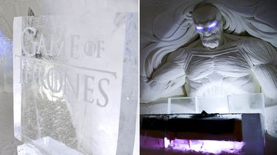 Winter is always here at Game of Thrones ice hotel