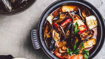"Recipe: <a href=""http://kitchen.nine.com.au/2018/02/20/08/51/seafood-stew-recipe"" target=""_top"">Seafood stew</a>"
