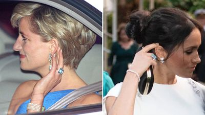 Diana's aquamarine cocktail ring