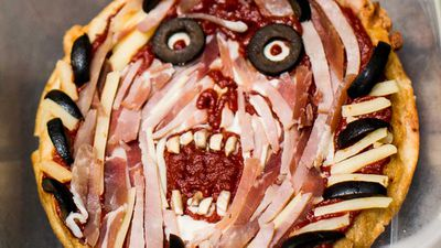 "Recipe: <a href=""http://kitchen.nine.com.au/2017/09/22/10/20/zombie-pizza"" target=""_top"">Zombie pizza</a><br /> <br /> More: <a href=""http://kitchen.nine.com.au/2016/06/07/02/36/kidfriendly-recipes"" target=""_top"">Kid-friendly recipes</a>"