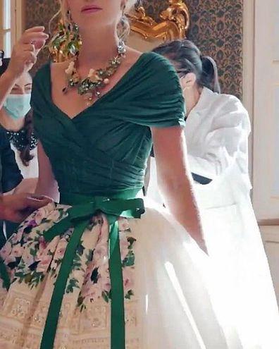 Lady Kitty Spencer in Dolce & Gabbana