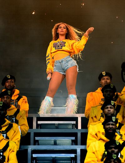 2018: Somehow Beyoncé made denim shorts look fashionable at Coachella, with some help from Christian Louboutin holo-fringed boots. Expect copycat performances at the Insta-fest next year.