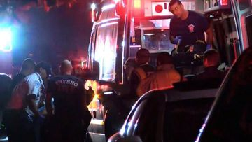 Emergency services respond to reports of a shooting at a family gathering in California.