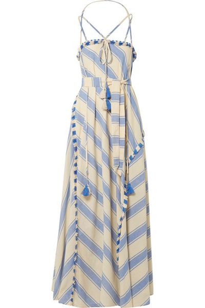 "<em><a href=""https://www.net-a-porter.com/au/en/product/1013263/dodo_bar_or/pedro-tasseled-striped-cotton-gauze-maxi-dress"" target=""_blank"">Dodo Bar Or Pedrotasseled striped cotton-gauze maxi dress $346.68 </a></em>"