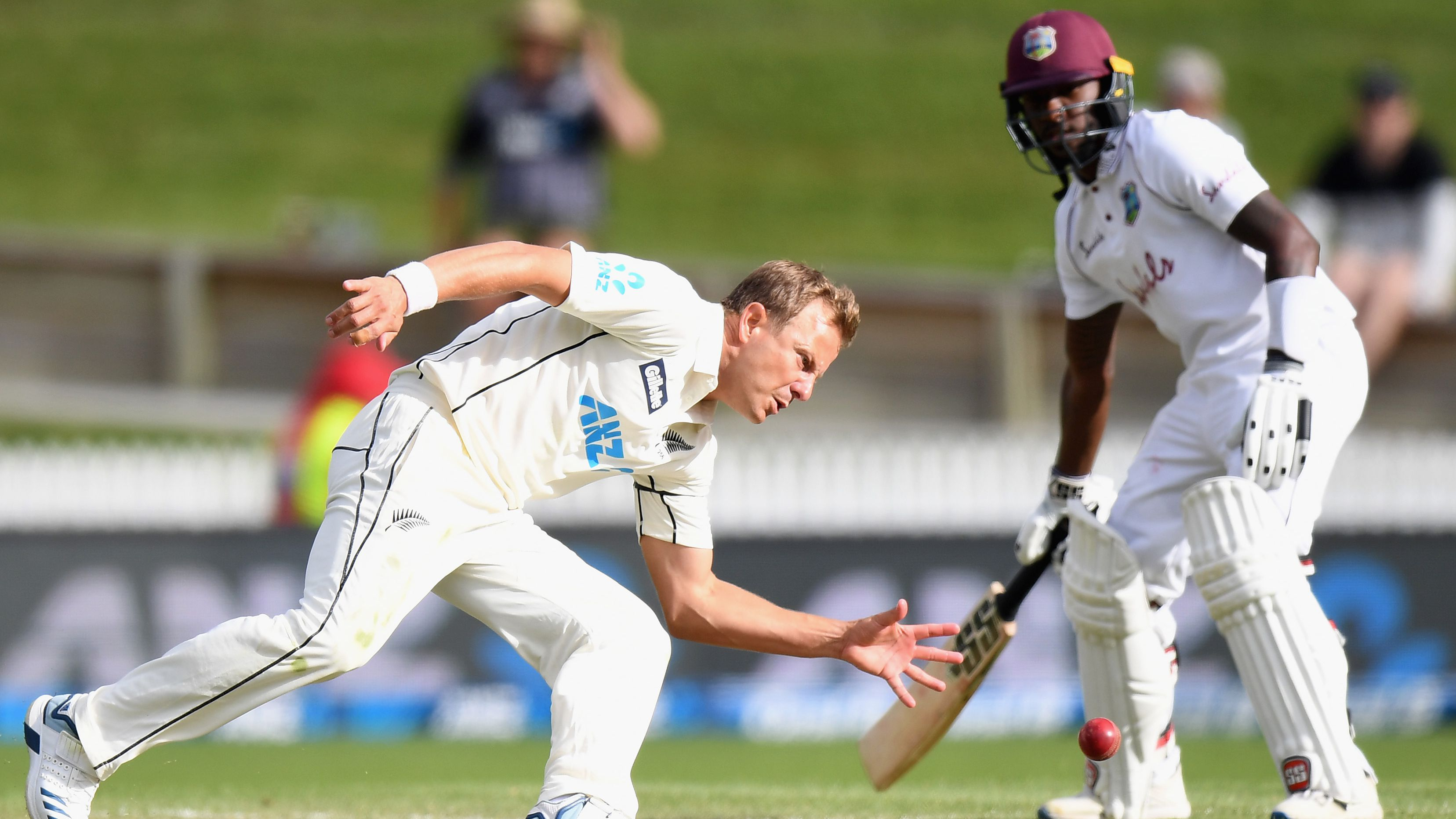 New Zealand's push for innings Test victory stalled by counter-attacking West Indies pair