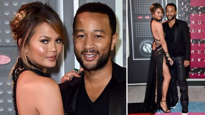 Chrissy Teigen and husband John Legend made the perfect pair on the red carpet. (AAP)