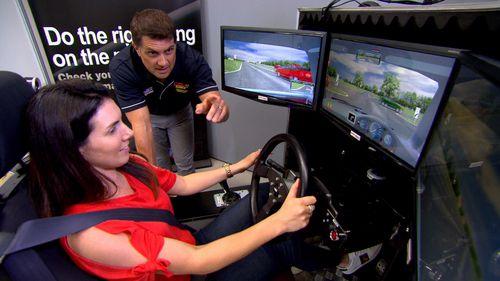 Ms Zapala struggled with the simulator.