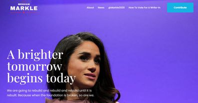 Fake Meghan Markle Presidential website launched