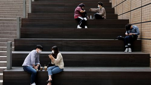 Social distancing in Seoul