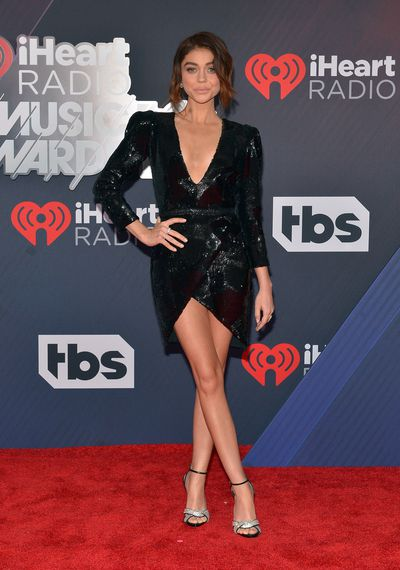 Modern Family star Sarah Hyland at the 2018 iHeart Radio Music Awards in Los Angeles