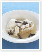 Baked marshmallow pears