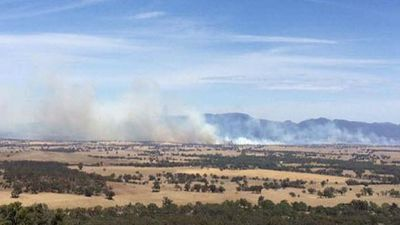 A fire is raging around the western Victorian town of Moyston, with residents told it's too late to leave. (Supplied)