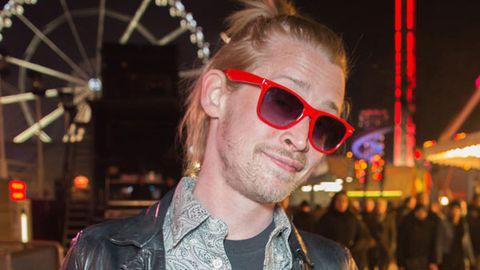 Nice ponytail: Check out Macaulay Culkin's latest look
