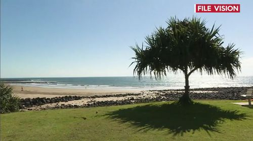 Australia heatwave beach