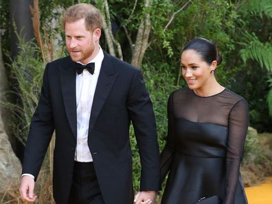 Meghan and Harry attend Lion King premiere