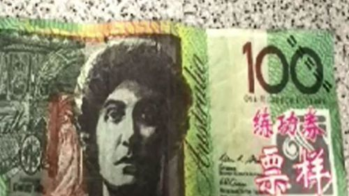 The counterfeit note. (Victoria Police)