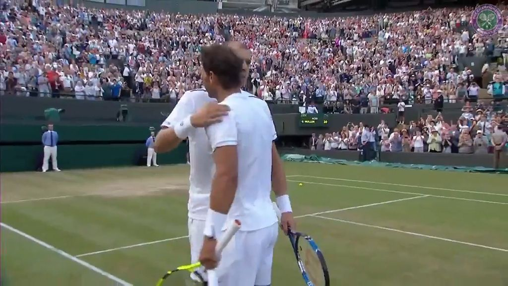 9RAW: Nadal knocked out of Wimbledon by Muller