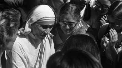 "At the end of WWII Mother said she ""felt a call from God"" to leave the convent and help the poor while living among them. She then moved to the slums in Kolkata. (AAP)"