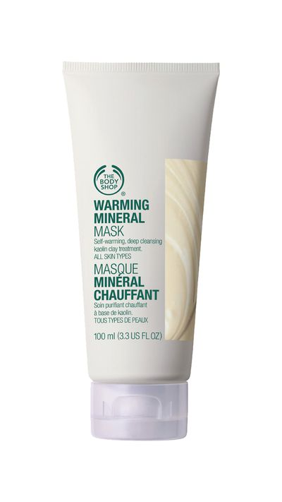 """<p><em><a href=""""http://www.thebodyshop.com.au/skincare/scrubs-and-masks/warming-mineral-mask.aspx#.VV6FHPmqpBc"""" target=""""_blank"""">The Body Shop Warming Mineral Mask</a></em>- This face mask will warm itself as you smooth it onto your skin giving your face a deep cleanse. Use 1-2 times a week.&nbsp;</p>"""