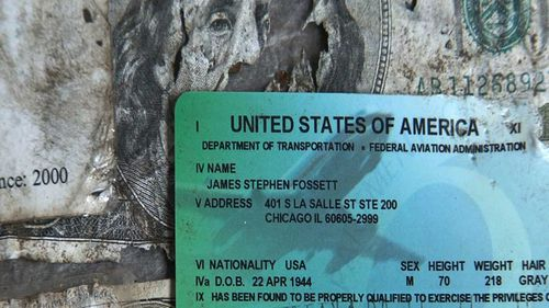 A hiker discovered Steve Fossett's identification and cash a year after he disappeared.
