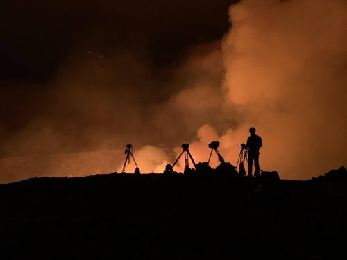 Kilauea is one of the most active volcanos on Earth. (D. Downs/USGS via AP)