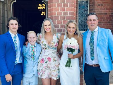 Knox with his family.