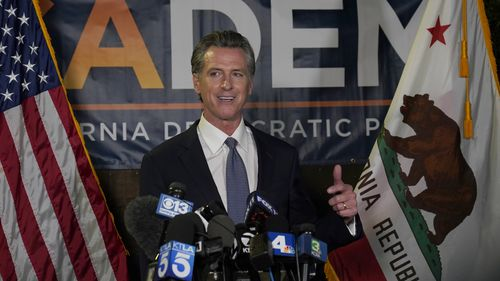 California Governor Gavin Newsom spoke after beating back the recall attempt that aimed to remove him from office.