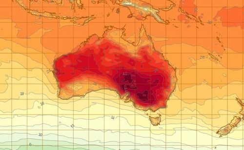 Hot weather is affecting much of New South Wales. (Bureau of Meteorology)