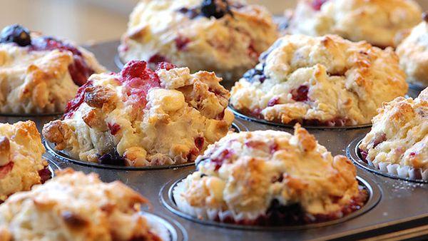 McKenzie's berries and quinoa muffins