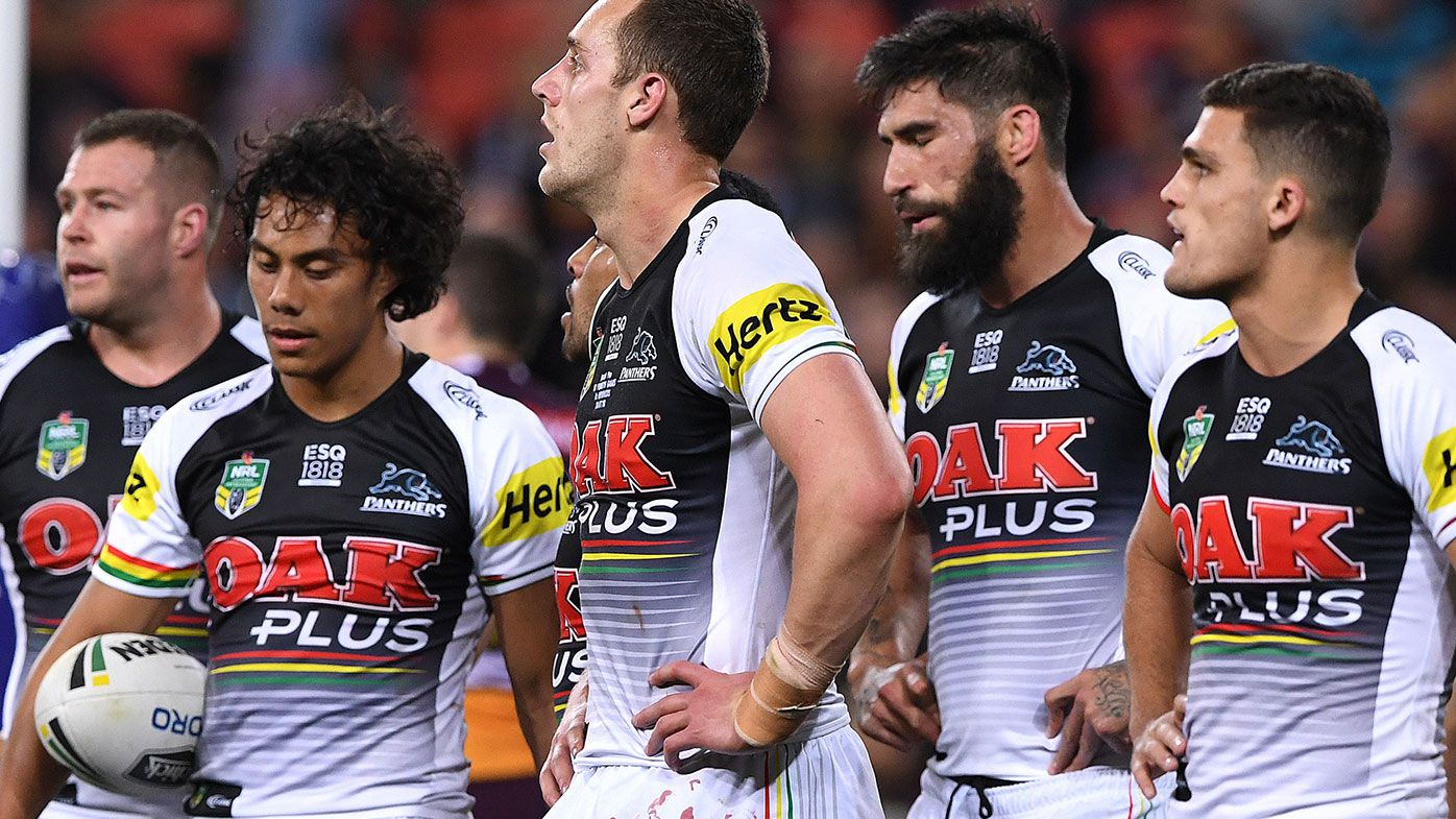 Penrith NRL players during Brisbane's big win.