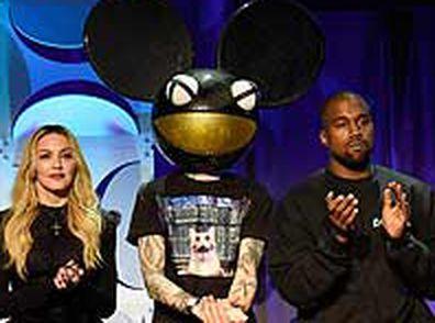 Rihanna, Nicki Minaj, Madonna, Deadmau5 at Kanye West at steaming launch (Getty)