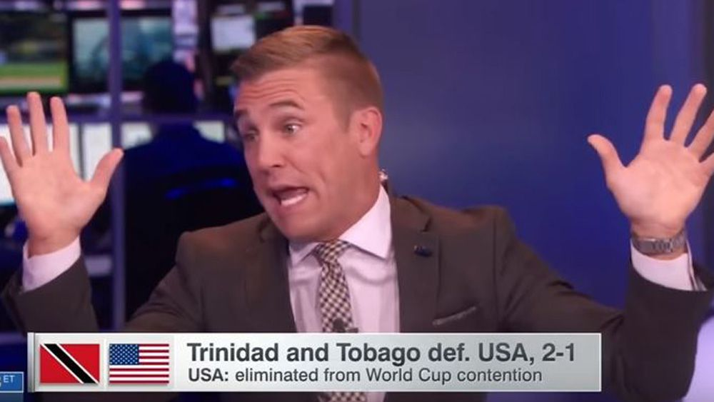 Football commentator Taylor Twellman fumes as USMNT fail to qualify for 2018 World Cup