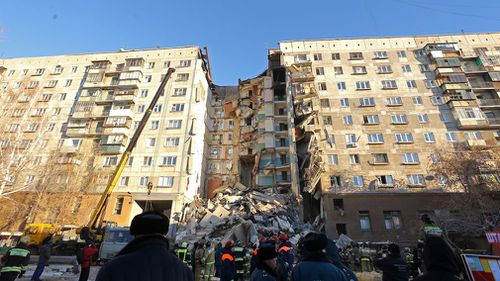 Authorities said five people were hospitalised with injuries, and 35 other residents remained unaccounted for in the accident in Magnitogorsk, a city of 400,000 about 1400 kilometres southeast of Moscow.