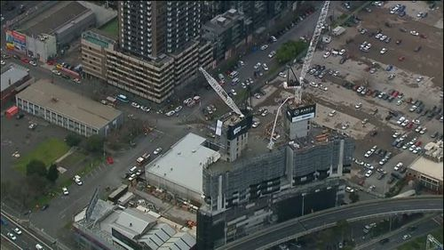 Up to six people may have been injured in the collapse. (9NEWS)