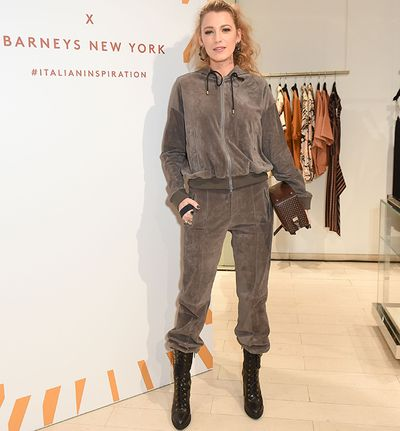 "<p>Just when you think it&rsquo;s pretty much impossible to have any more of a girl crush on Blake Likely than you already do, she goes and rocks a tracksuit for a night out.</p> <p>The actress attended a launch for Tods sporting a brown velour hoodie and matching velour sweatpants.</p> <p>The mum of two posted a picture to her 19.9 million Instgram followers with the folllowing caption: ""Thank you early 2000s for coming back in a much less velour way. I appreciate being able to breathe on a night out. Life&rsquo;s simple pleasures.""</p> <p>Because being able to breathe when you're going out is really all you need.</p> <p>And if like us, you too, are totally on board this look, you'll be happy to know the&nbsp;matching tracksuit is having a major moment right now.</p> <p>Thanks to the on-going athleisure trend, the low-key look is officially back.</p> <p>Just ask supermodels Gigi Hadid and Kendall Jenner, who like to pair theirs with heels, or royals like Dutchess of Cambridge Kate Middleton and Beyonc&eacute;, (sorry, is Queen Bey not royal?) who like to pair theirs with their faithful runners.</p> <p>Whichever way you want to style yours, the matching tracksuit trend is here in full force, and I can&rsquo;t think of a more worthy fashion moment to jump on the bandwagon for.</p> <p>Take a look at some of our favourite celebs sporting the look and find out where you can get one for yourself.&nbsp;<br /> <br /> </p>"