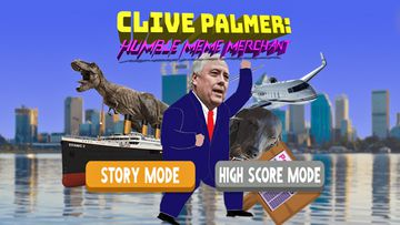 "The opening titles of Mr Palmer's app lets users choose between a ""story mode"" and a ""high score mode""."