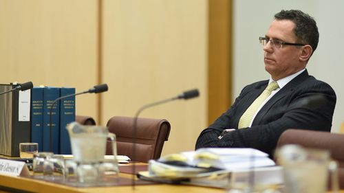 Justin Gleeson appearing before a senate inquiry at Parliament House in 2016. (Image: AAP)