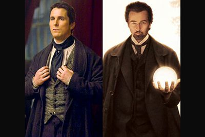<B>In <I>The Prestige</I>...</B> A man becomes a magician, and finds fame and love before a murderous situation develops. Impossible magic is performed, and a much sought-after device is involved. In the end, the twist relating to the killing reveals nothing is as it seems.<br/><br/><B>In <I>The Illusionist</I>...</B> A man becomes a magician, and finds fame and love before a murderous situation develops. Impossible magic is performed, and a much sought-after device is involved. In the end, the twist relating to the killing reveals nothing is as it seems.