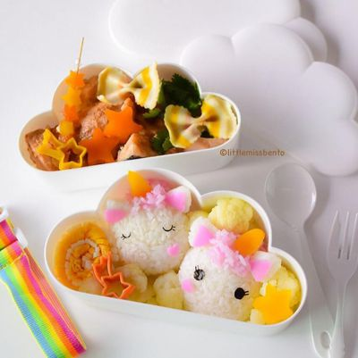 "The sweetest Unicorn bento from food artist, <a href=""http://littlemissbento.com/"" target=""_blank"">Little Miss Bento</a>."