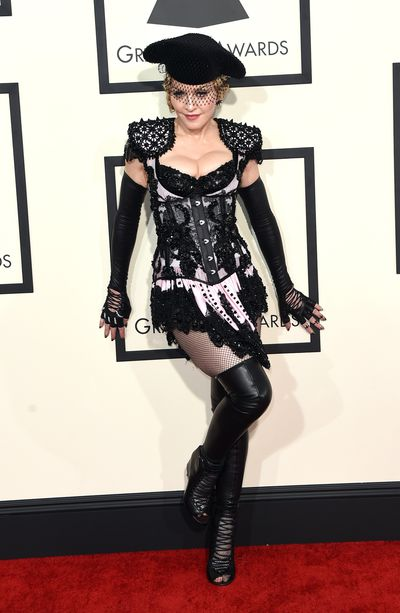 Singer Madonna at the The 57th Annual Grammy Awards in Los Angeles in 2015.