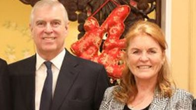 Prince Andrew, Sarah Ferguson, Princess Beatrice at Chinese Ambassador to the UK, Liu Xiaoming, residence for Chinese New Year
