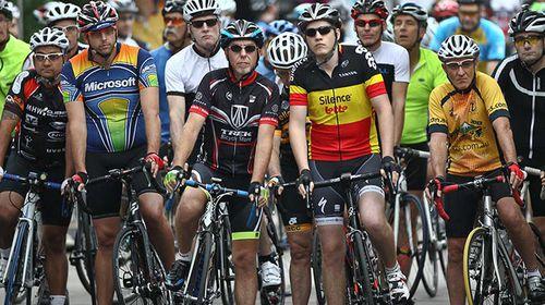 Participants line up for last year's Tour de Hills