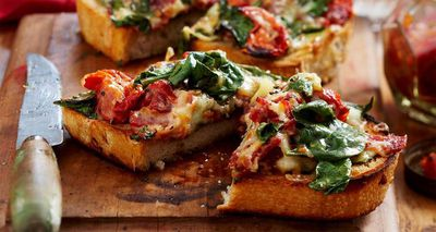 "Recipe: <a href=""http://kitchen.nine.com.au/2016/05/05/16/14/sourdough-spinach-melts"" target=""_top"" draggable=""false"">Sourdough spinach melts<br /> </a>"