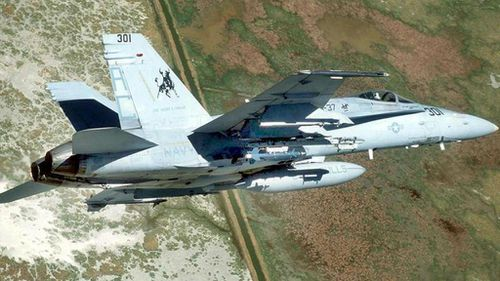 Pilot dies after US Navy F-18 fighter jet crashes in England