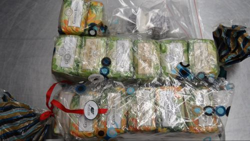 The cocaine was allegedly concealed in bars of soap. (Supplied: AFP)