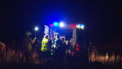 The pilot suffered chest, leg and arm injuries. Picture: 9NEWS