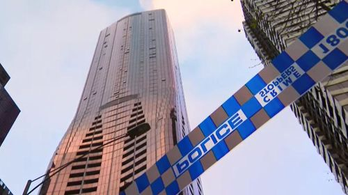 The teenager died on an upper level of the massive apartment building. Picture: 9NEWS