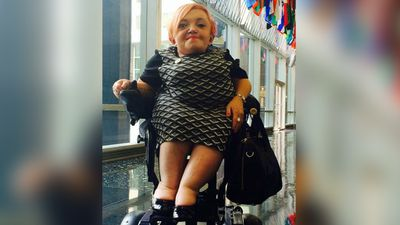 <p>Ms Young was born in Stawell, Victoria with a genetic condition called osteogenesis imperfecta, which leads to unusually brittle bones. (Twitter)</p>