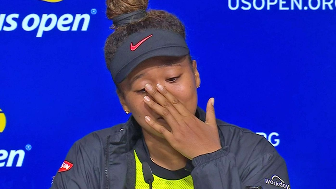 Naomi Osaka breaks down in her press conference