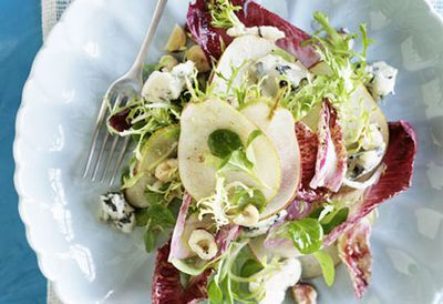 "<a href=""/recipes/ipear/8298847/witlof-pear-roquefort-and-hazelnut-salad "" target=""_top"">Witlof, pear, Roquefort and hazelnut salad<br> </a>"